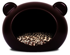 Cama GuisaPet Chocolate Mediana con Cojin Animal Print Chocolate (Dog Cave) Perros hasta 20 kgs